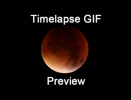 Blood moon timelapse gif