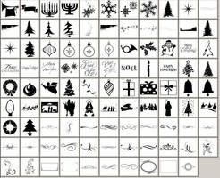 Christmas Shapes by hurleyrocks