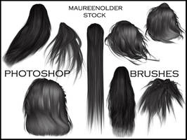 STOCK PHOTOSHOP BRUSHES hair by MaureenOlder