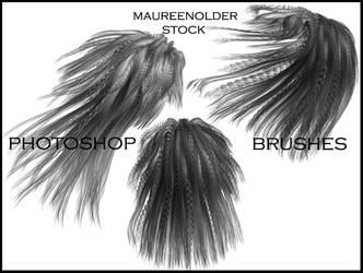 STOCK PHOTOSHOP BRUSHES hair2 by MaureenOlder
