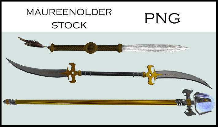 STOCK PNG weapons of choice by MaureenOlder