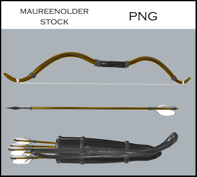 STOCK PNG bow and arrows