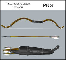 STOCK PNG bow and arrows by MaureenOlder