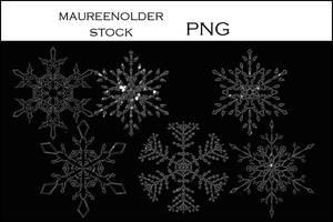 STOCK Snowflakestar png silver by MaureenOlder