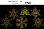 STOCK Snowflakestar png gold