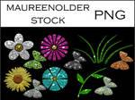 STOCK PNG Butterfliesflowers