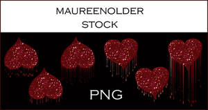 STOCK PNG Dripping hearts