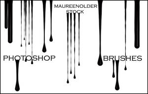 STOCK PHOTOSHOP BRUSHES Drippy by MaureenOlder