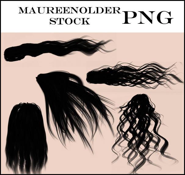 STOCK PNG Basic Hair by MaureenOlder