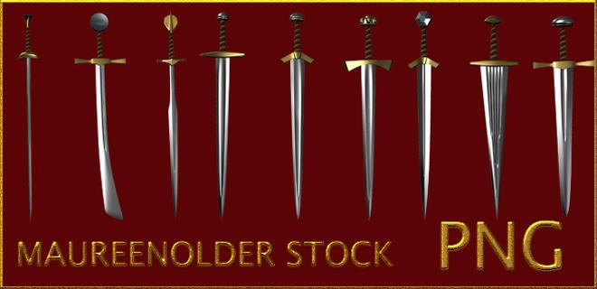 STOCK PNG swords play by MaureenOlder