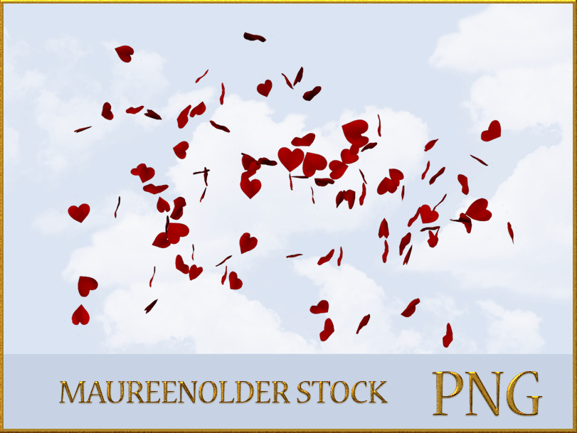 STOCK PNG hearts in the wind