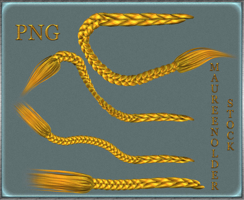 STOCK PNG yellow braids by MaureenOlder