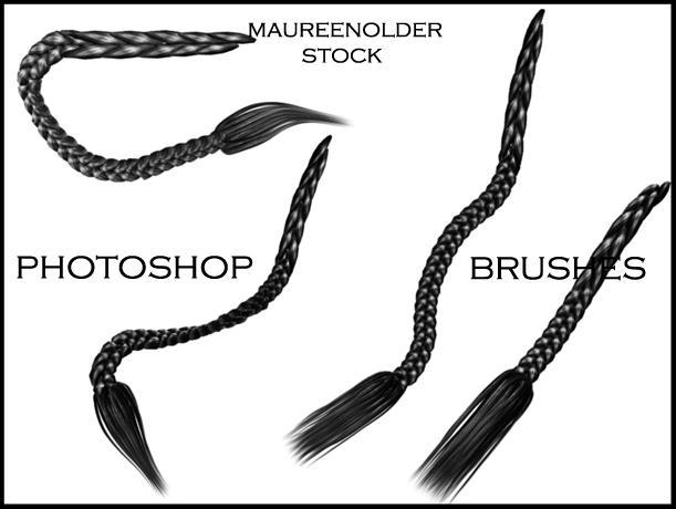 STOCK PHOTOSHOP BRUSHES hair 5 by MaureenOlder