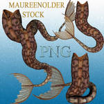 STOCK PNG brown mer-tails