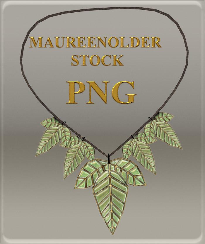 STOCK PNG leaf necklace2 by MaureenOlder