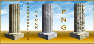 STOCK PNG plain stone columns by MaureenOlder