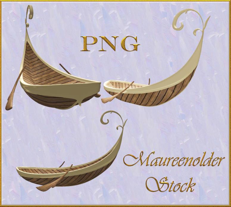 STOCK PNG fantasy boat by MaureenOlder