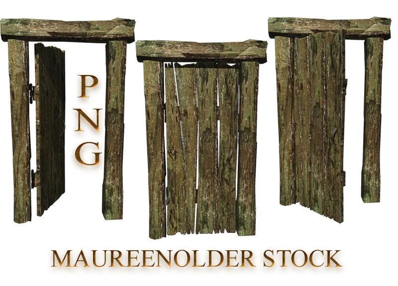 STOCK PNG old wooden door by MaureenOlder
