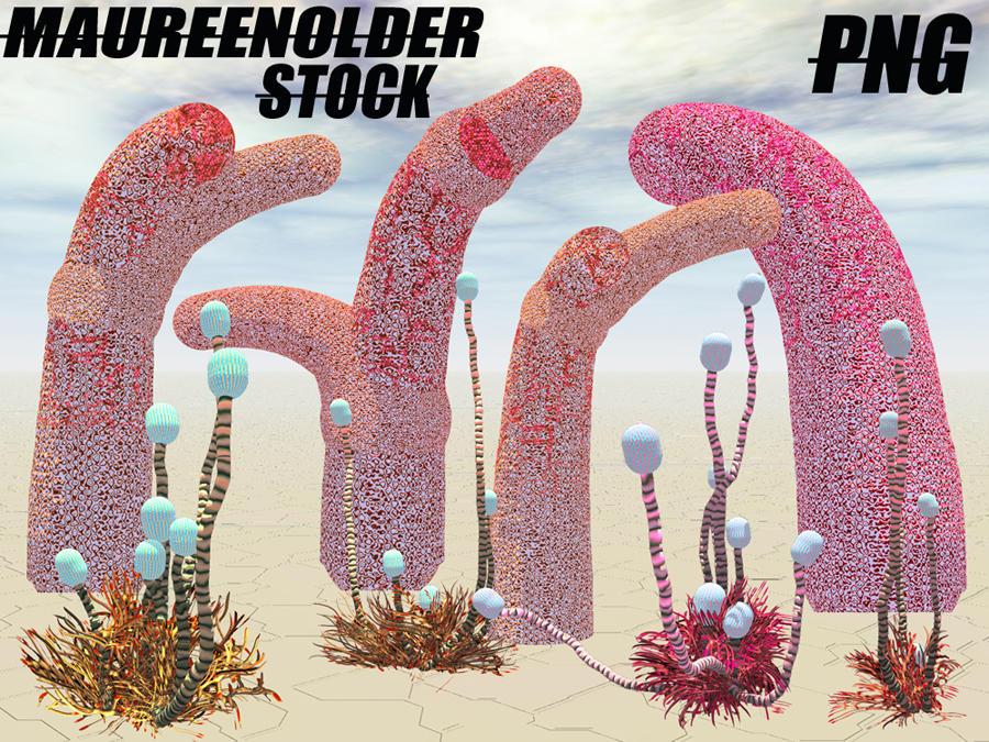 STOCK PNG alien plants by MaureenOlder