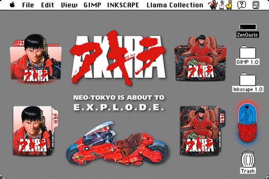 Akira 2020 (Japanese) movie folder icon pack