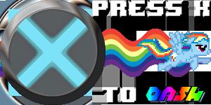 Press X to Dash Icon