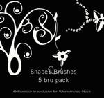 Flower-Curl Shaped Brushes