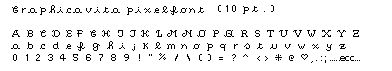 Graphicavita pixelfont