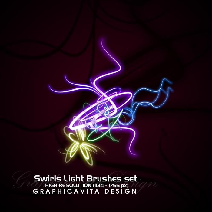 Swirls Light Brushes Set