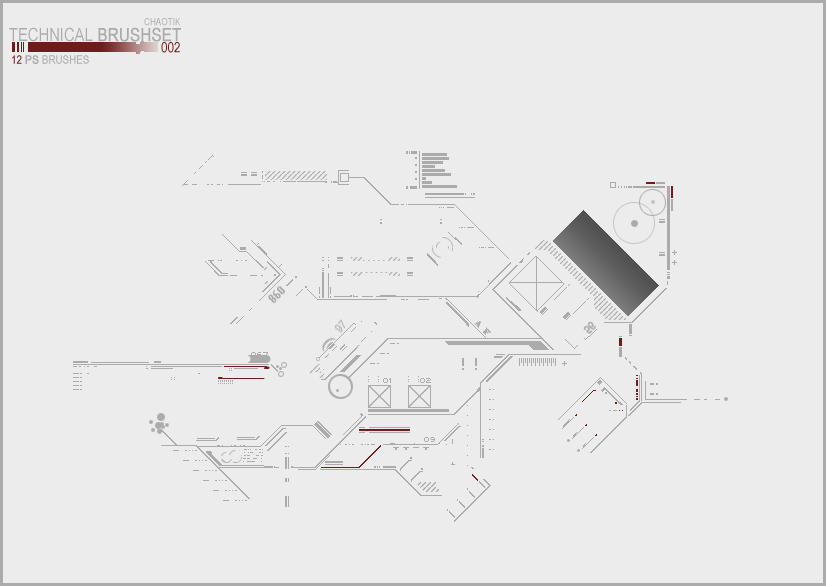 Techikal Brushset 002 by Chaotik47