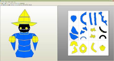 Final Fantasy 1 Black Mage Papercraft Template by La-Bomba-Frita