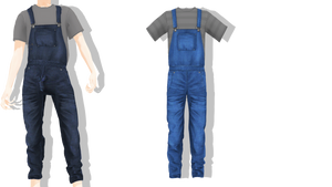 MMD - Sims 4 Rody Overalls