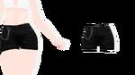 MMD - Sims 4 Female Chain High Waist Shorts