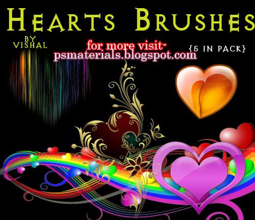 PHOTOSHOP HEARTS BRUSHES