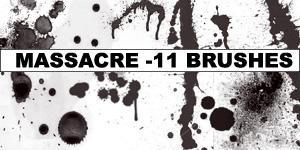 Massacre BrushPack by Amber by Amberfresh