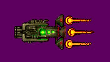 Mini Pixel Gunship Space Fighter (Animated GIF)