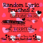 Random Lyric Brushes 2 by VogueGirlDesigns