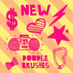 New Doodle Brushes - Fixed by VogueGirlDesigns