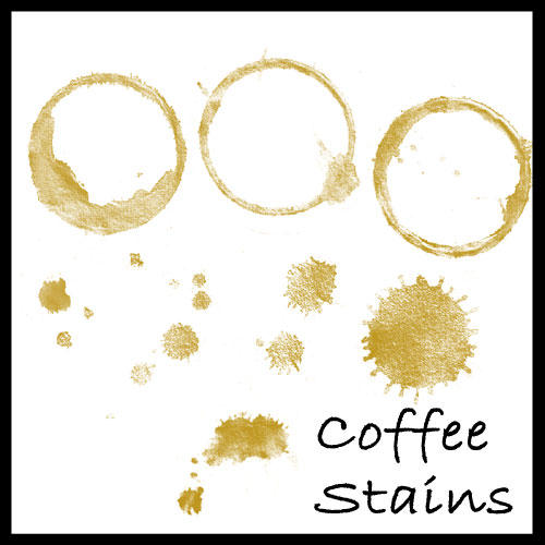 Coffee Stains Photoshop Brush by Divinity-bliss
