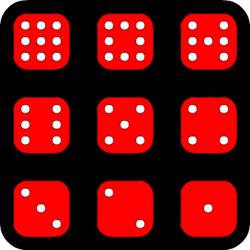 Dancing Dice and Dominoes Puzzle by eriban