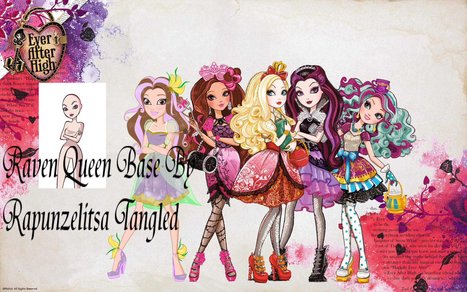 RapunzelitsaTangled Ever After High Base Raven Queen By