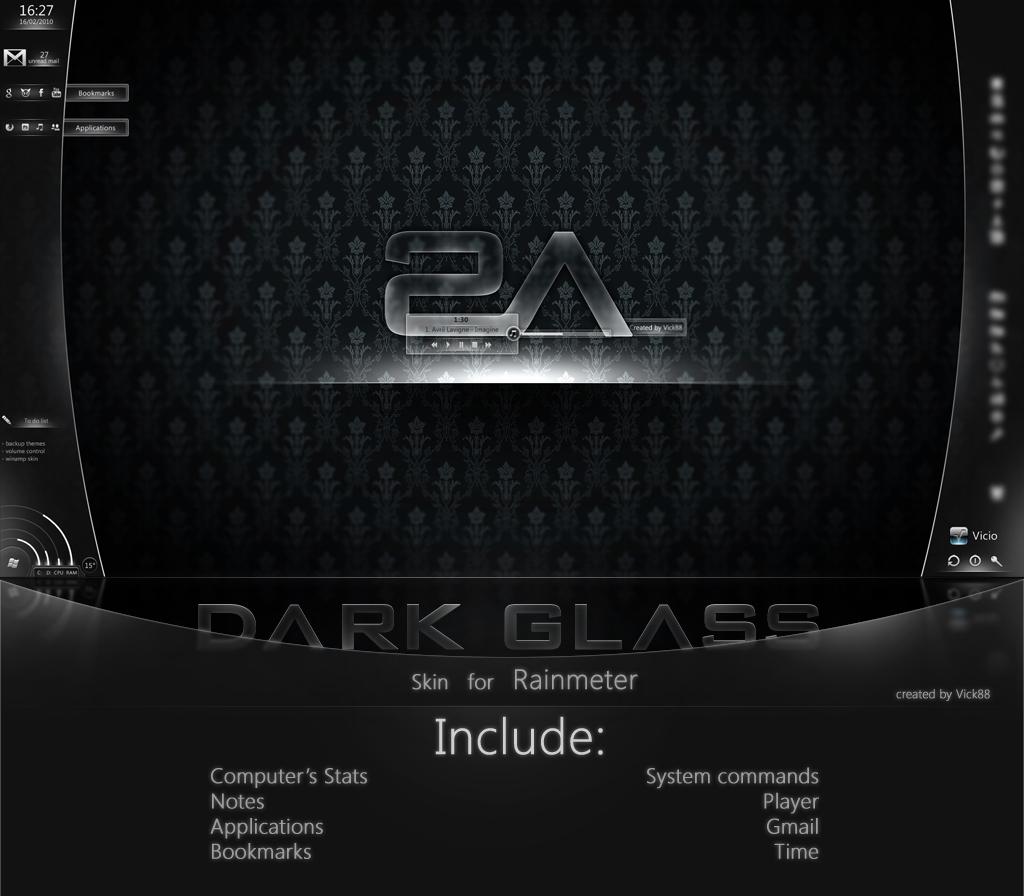 +MOD+ Dark Glass for Rainmeter