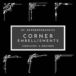 Corner Embellishments | Decorative png pack