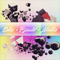Cubes Pyramid Marbles Pack