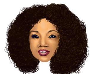 Oprah portrait by inkblot-101