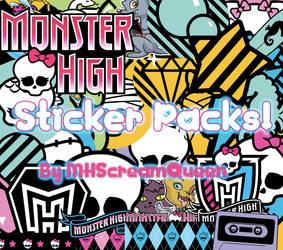 Monster High Sticker Packs by KittRen