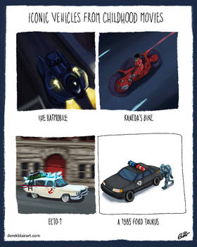 Iconic Vehicles from Childhood Movies