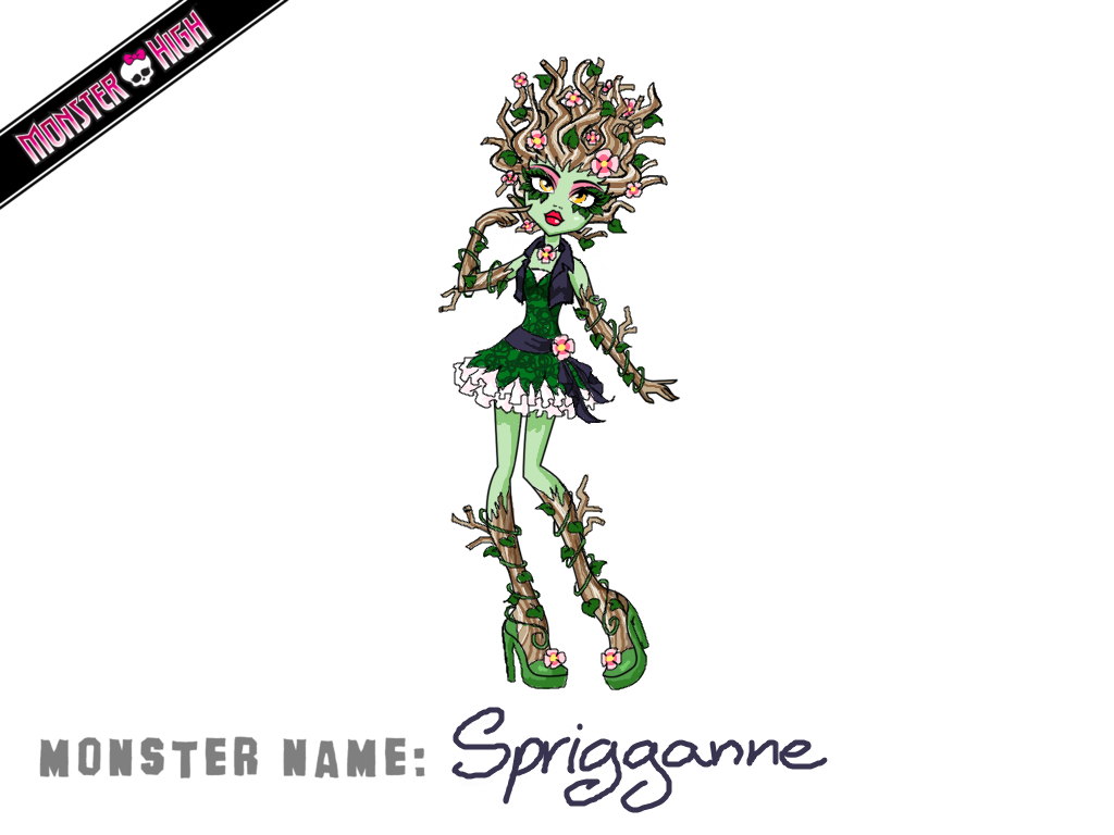 Monster High Contest Sprigganne Woods by Humanoid-Magpie