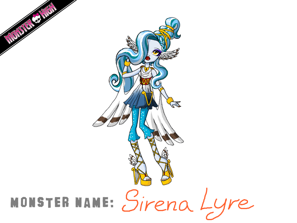 Monster High Contest Sirena Lyre by Humanoid-Magpie
