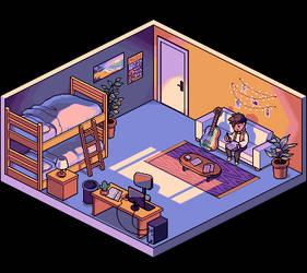 Commission - Pixel Room 2