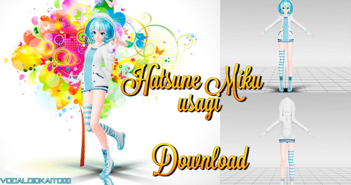 Hatsune Miku - usagi (Download) by vocaloidkaito00 on DeviantArt